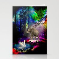 decal Stationery Cards featuring Fantasy forest by haroulita