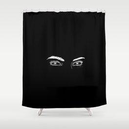 Heart Eyes Shower Curtain