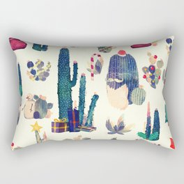 cactus ready for Christmas Rectangular Pillow
