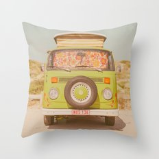 let's ride through europe Throw Pillow