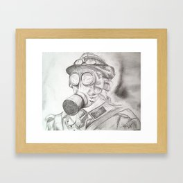 World War I - Gas Mask (WWI) Framed Art Print