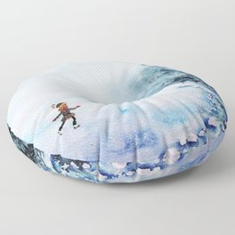 Winter fun Floor Pillow