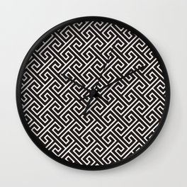 Beautiful Pattern #23 Japanese Kimono Black Wall Clock