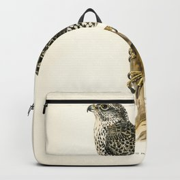 Gyrfalcon Gyr Falcon male (Falco rusticolus) illustrated by the von Wright brothers Backpack