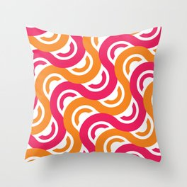 refresh curves and waves geometric pattern Throw Pillow