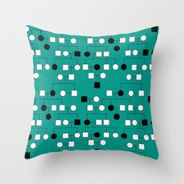 Pedigree Analysis - Autosomal Recessive Throw Pillow