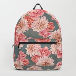 Roses&Dahlias pattern Backpack