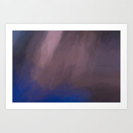 Abstract Touch of Colors. Like Painted on Canvas. Art Print