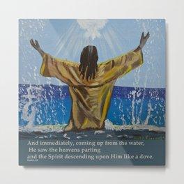 Jesus Baptism Metal Print