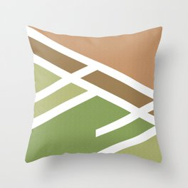 Green brown Minimalist marble modern and cool Throw Pillow