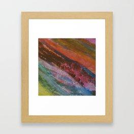 Vetas de colores // Colored streaks Framed Art Print