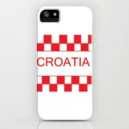 Red chess board Croatia iPhone Case