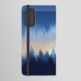 Winter Pines Reflected Android Wallet Case
