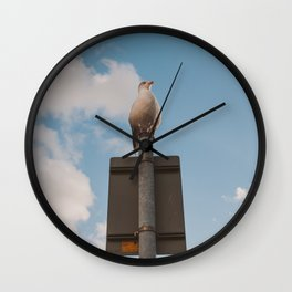 The seagul is watching us Wall Clock