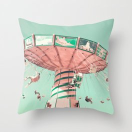 Joyful Spins Throw Pillow