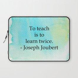 Learn Twice Laptop Sleeve