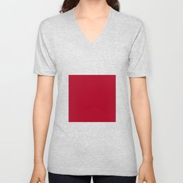 Red Dark Raspberry Unisex V-Neck