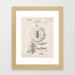Lacing for Soccer Football Vintage Patent Hand Drawing Framed Art Print