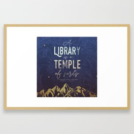 Library Temple Framed Art Print