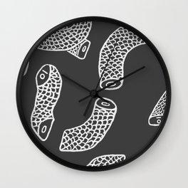 Gray Headless Snake (Square) Wall Clock