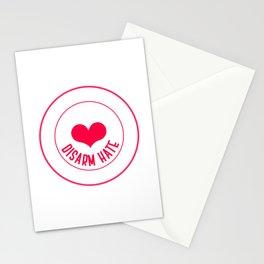 Disarm Hate Love Positivity Negativity Anti Gun Anti War Design Stationery Cards