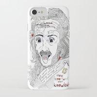 einstein iPhone & iPod Cases featuring Einstein by Ina Spasova puzzle