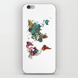 Map of the World triangle iPhone Skin