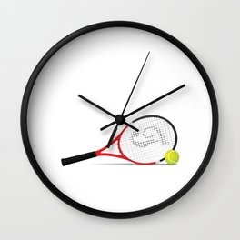 1% Talent 99% Work Tennis Sports T-shirt Wall Clock