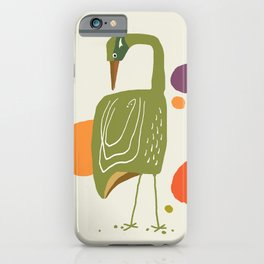 Quirky Brolga iPhone Case