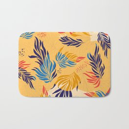 Primary Colors Leaves Bath Mat