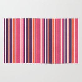 Happy Vertical LInes Pink Version Rug