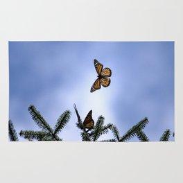 Monarchs flying Rug