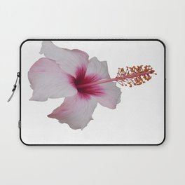 Pale Pink Hibiscus Tropical Flower No Text Laptop Sleeve