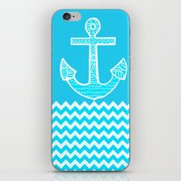 anchor iPhone & iPod Skins featuring Anchor by haroulita