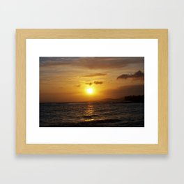 Hawiian Sunset on Kauai Framed Art Print