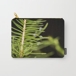 Spruce branch with drops Carry-All Pouch