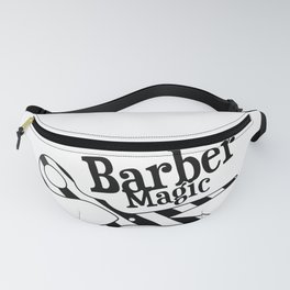 Barber Magic - black and white Fanny Pack