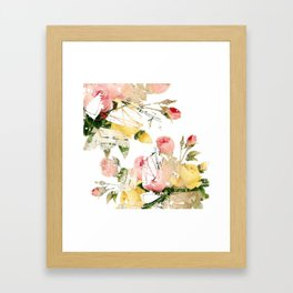 Frozen roses Framed Art Print