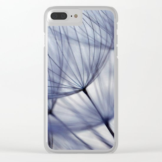 Dandelion In Blue No.2 Clear iPhone Case