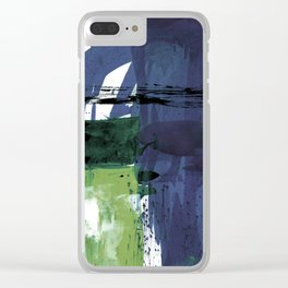 Teal Splendor No.1t by Kathy Morton Stanion Clear iPhone Case
