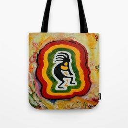 Disco Kokopelli Tote Bag
