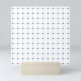 symmetric patterns 96- blue and soft Mini Art Print