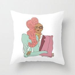Rupaul Born Naked Throw Pillow