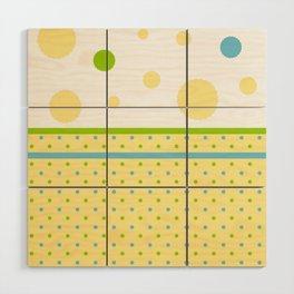 Yellow Dots, Blue, Green, Dots, Circles Wood Wall Art