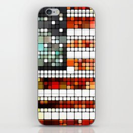 Retro Abstract American Flag iPhone Skin