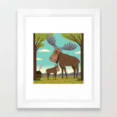 The Magnificent Moose Framed Art Print