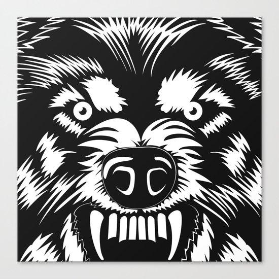 big bad wolf II Canvas Print