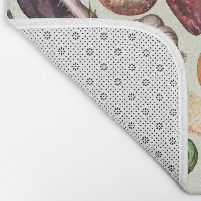 Food Pattern Bath Mat
