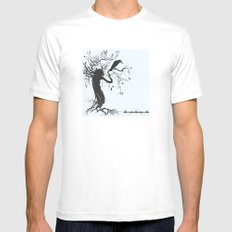 The waiting is the point Mens Fitted Tee White MEDIUM
