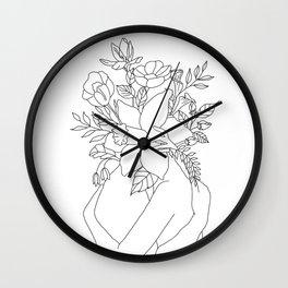 Blossom Hug Wall Clock